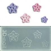 3D muotti - Teräväkärkiset kukat