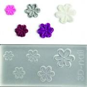 3D muotti - Pyöreäkärkiset kukat